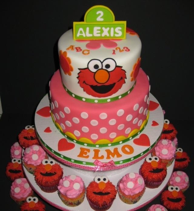 Cute Elmo Birthday Cake