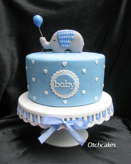 8 Blue Cakes For Boys Photo Elephant Boy Baby Shower Cake Baby
