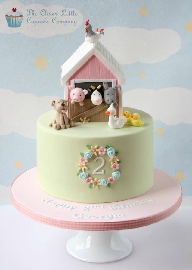11 Cakes For Girls Baby Farm Animals Photo Farm Animals Birthday