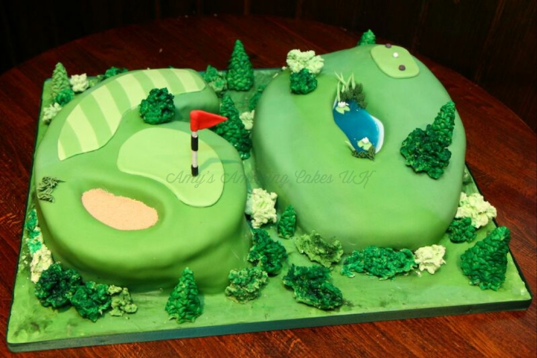 8 Golf Course Cakes Designs Photo