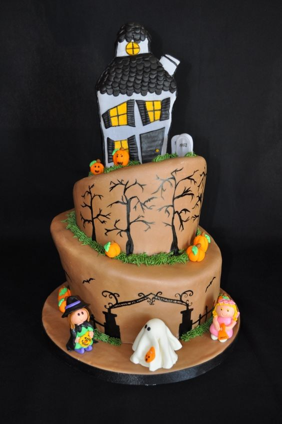 Super 10 Cool Haunted House Sheet Cakes Photo Haunted House Cake Funny Birthday Cards Online Inifofree Goldxyz