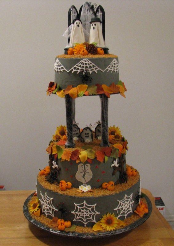 12 Bridal Cakes Halloween Photo - Halloween Wedding Cake ...