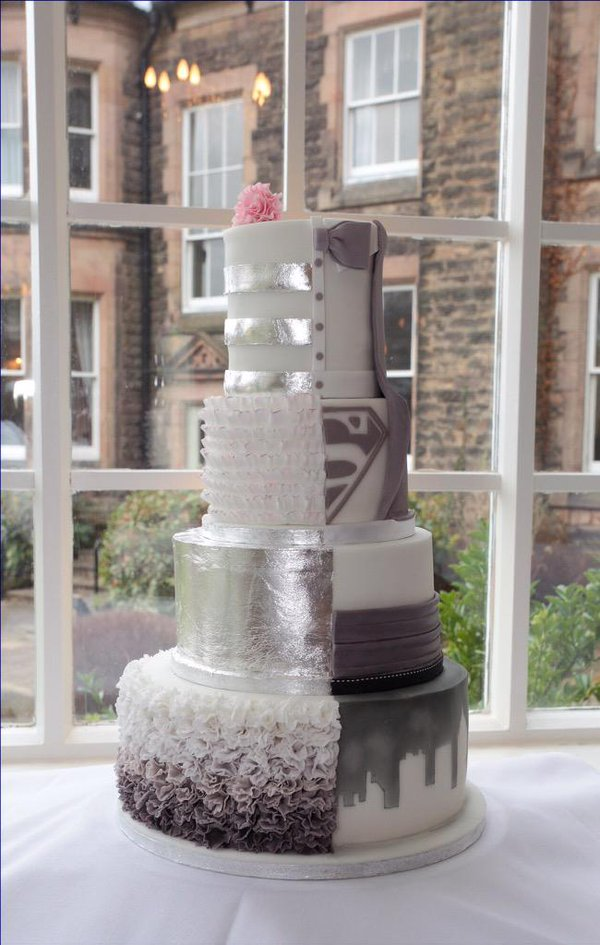 10 His And His Wedding Cakes Photo His Wedding Cake Ideas His - His And Hers Wedding Cake