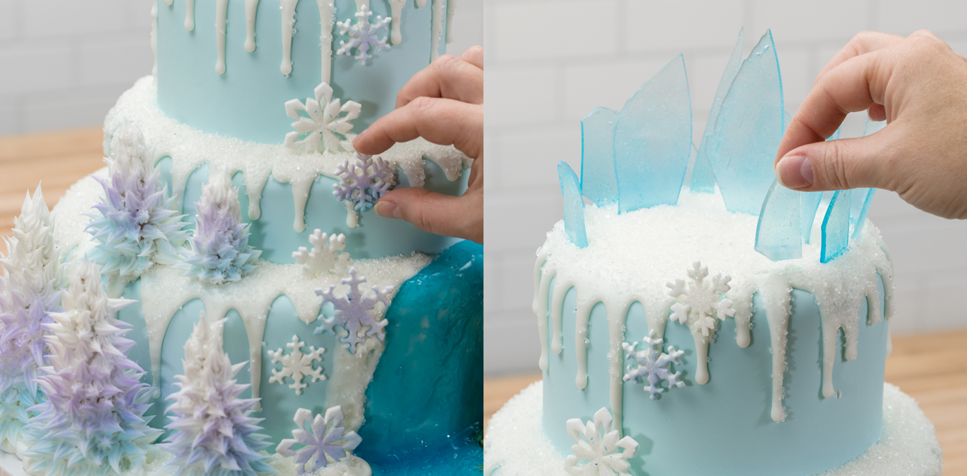 9 Frozen Tier Cakes With Frosting Photo Disney Frozen Birthday