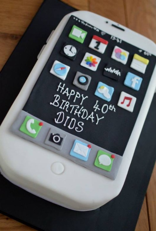 11 Iphone Birthday Cakes For Men Photo Iphone Birthday Cake