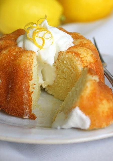 Lemon Yogurt Mini Bundt Cakes