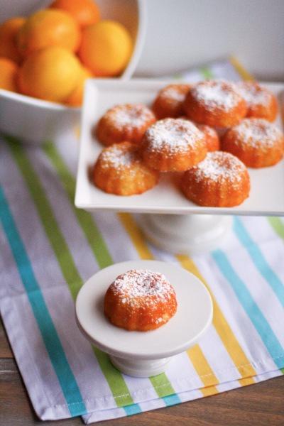Meyer Lemon Mini Bundt Cakes