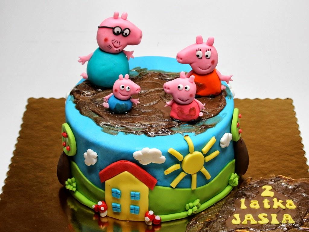 Amazing 9 Peppa Pig Cakes Birthday Cakes Photo Peppa Pig Birthday Cake Birthday Cards Printable Inklcafe Filternl