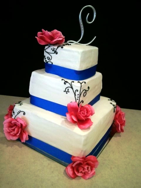 12 Pink And Blue Wedding Cakes Photo - Pink and Blue Wedding Cake ...