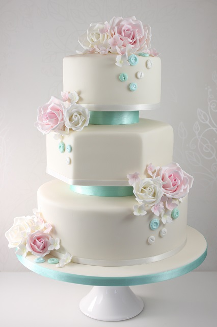 blue and pink wedding cakes - 5000+ Simple Wedding Cakes