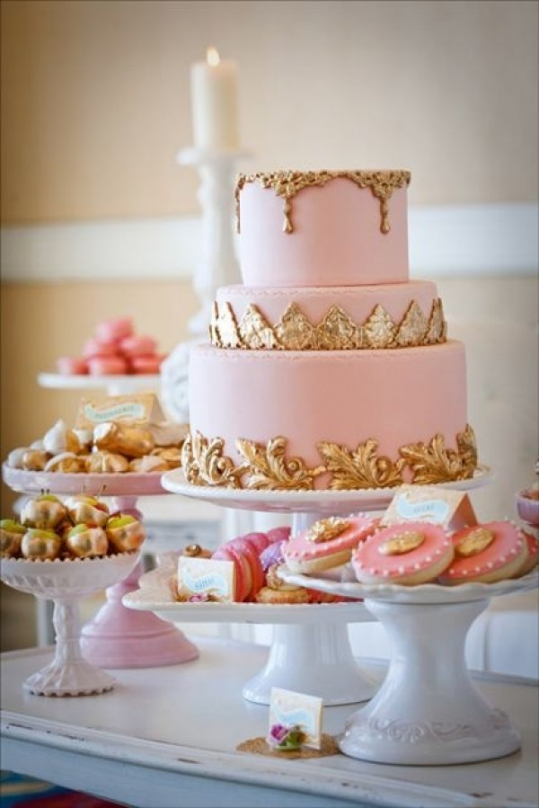9 Pinterest Pink Wedding Cakes Photo - Pink and Gold Cake Table ...