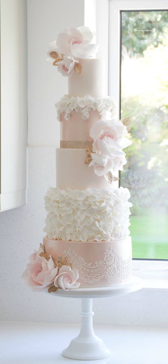 9 pinterest pink wedding cakes photo pink and gold cake table pink and white wedding cake mightylinksfo