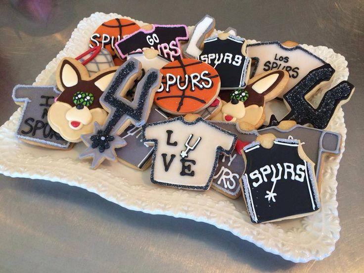 Phenomenal 12 Cookies And Cakes San Antonio Spurs Photo San Antonio Spurs Birthday Cards Printable Trancafe Filternl