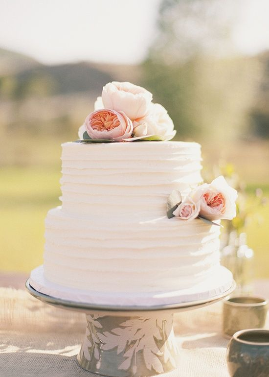 12 Plain Two Layer Wedding Cakes Photo Simple Two Tier Wedding - Layered Wedding Cake