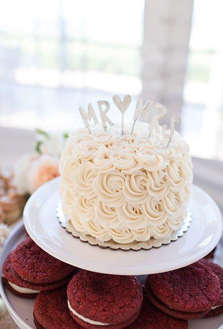 10 simple small rosette wedding cakes photo simple elegant wedding simple buttercream wedding cake junglespirit Gallery