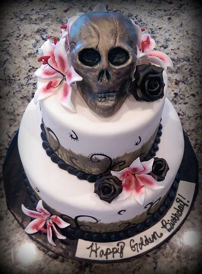 Astounding 11 Teen Birthday Cakes Skull Photo Skull Birthday Cake Sugar Funny Birthday Cards Online Eattedamsfinfo