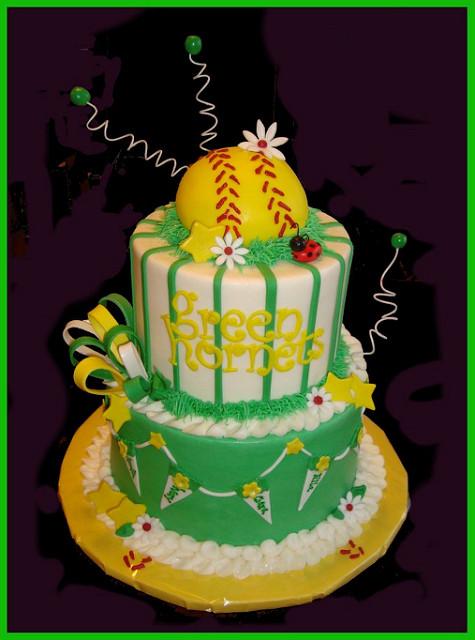 Astounding 10 Softball Themed Birthday Cakes Photo Softball Birthday Cake Personalised Birthday Cards Paralily Jamesorg