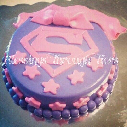 11 Supergirl Baby Cakes Photo Supergirl Birthday Cake Supergirl