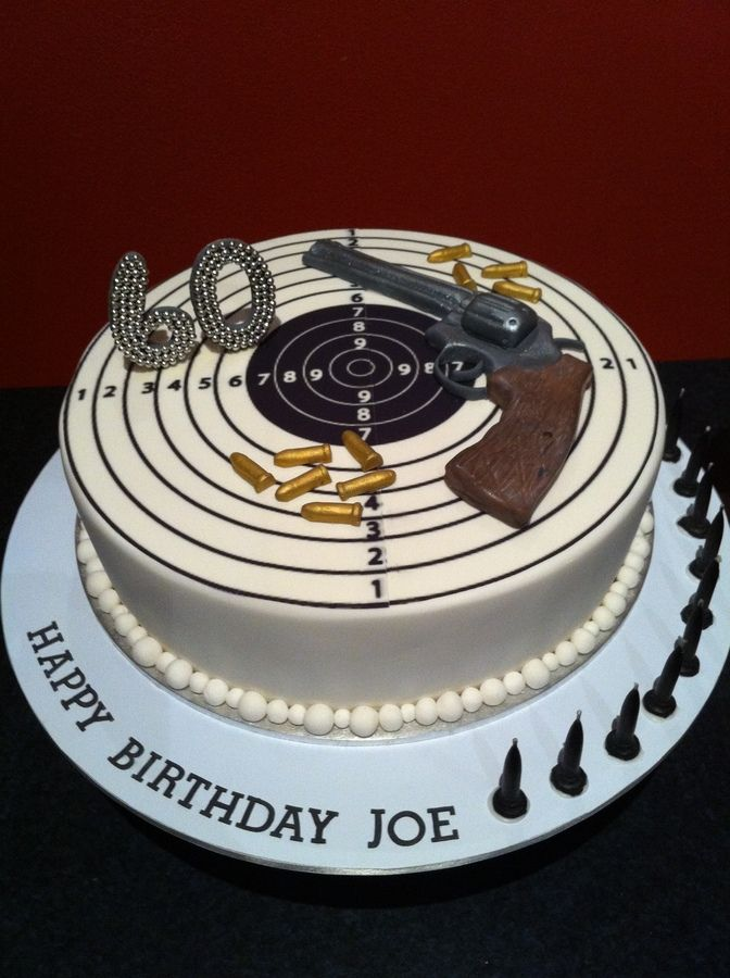 Miraculous 12 Cool Gun Cakes Photo Birthday Cake With Gun Happy Birthday Personalised Birthday Cards Beptaeletsinfo