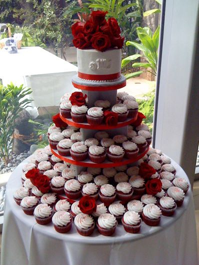 red velvet wedding cupcakes