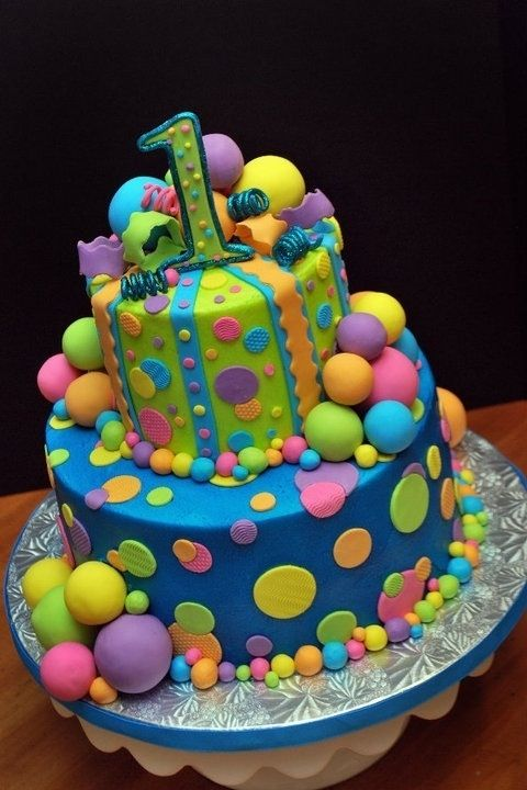 11 Polka Dot Birthday Cakes For 3 Year Olds Photo 1 Year Old