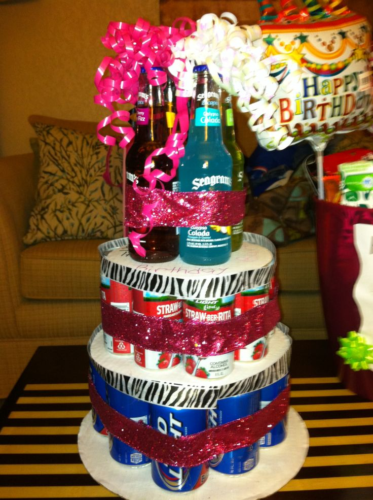9 Funny Alcohol Birthday Cakes Photo 21st Birthday Cakes with
