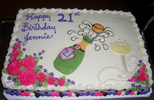 Fabulous 9 21St Birthday Sheet Cakes Photo Birthday Cake With Buttercream Funny Birthday Cards Online Hendilapandamsfinfo