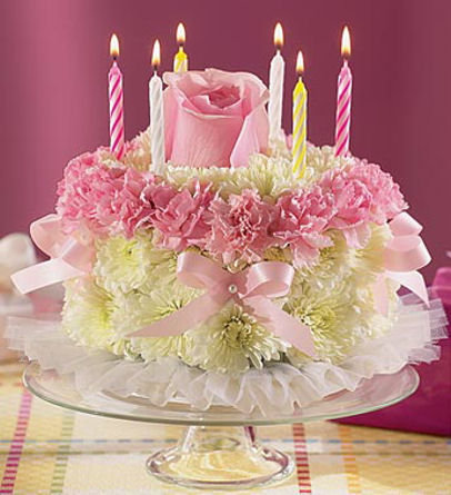 8 Beautiful Birthday Cakes With Flowers Photo Birthday Cake with