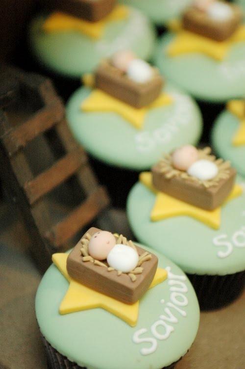6 Happy Birthday Baby Jesus Cupcakes Photo Baby Jesus Birthday