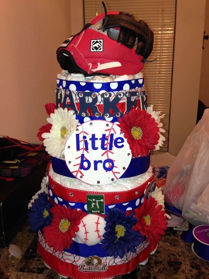 11 Baseball Diaper Cakes For Baby Showers Photo Baseball Baby