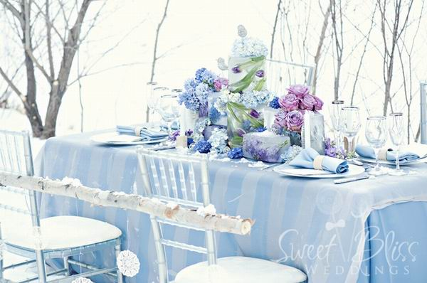10 Ice Blue Silver Wedding Cakes Photo - Blue and White Winter ...