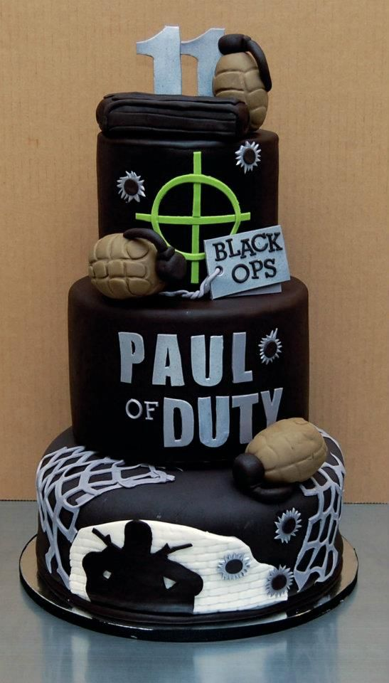 Call Of Duty Video Game Birthday Cake