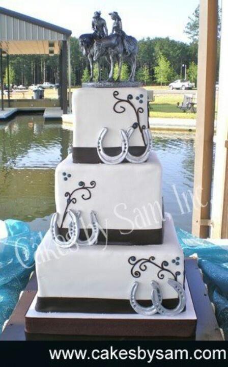 13 Horseshoe Country Wedding Cakes Photo - Country Wedding Cake ...