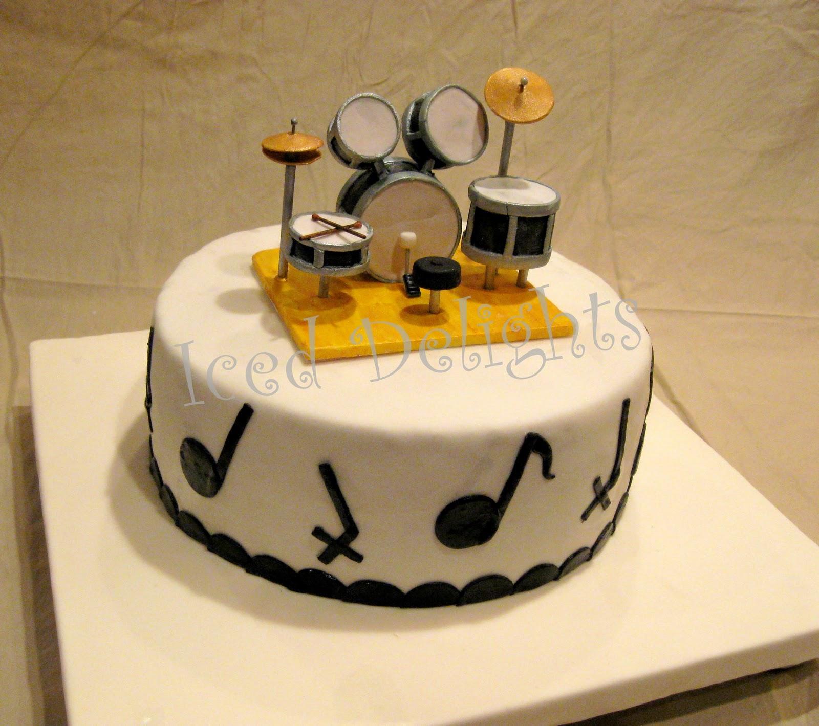 Awe Inspiring 10 Birthday Cakes Like A Drum Photo Drum Set Birthday Cake Drum Funny Birthday Cards Online Bapapcheapnameinfo