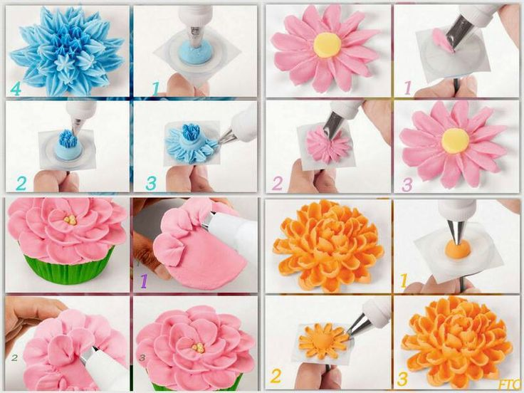 11 Techniques Piping Flowers On Cakes Photo - Flower Icing ...