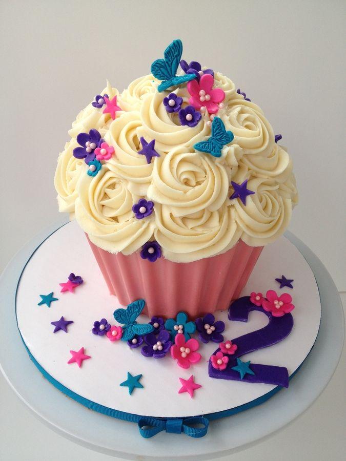 Sensational 13 Big Girl Cupcakes Photo Big Cupcake Cake Giant Cupcake Funny Birthday Cards Online Barepcheapnameinfo