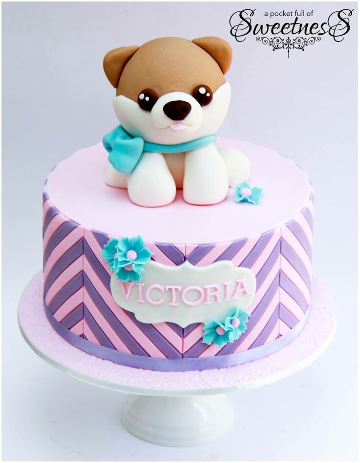 Girls Puppy Birthday Cake