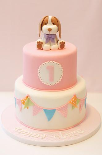 Girls Puppy Birthday Cake