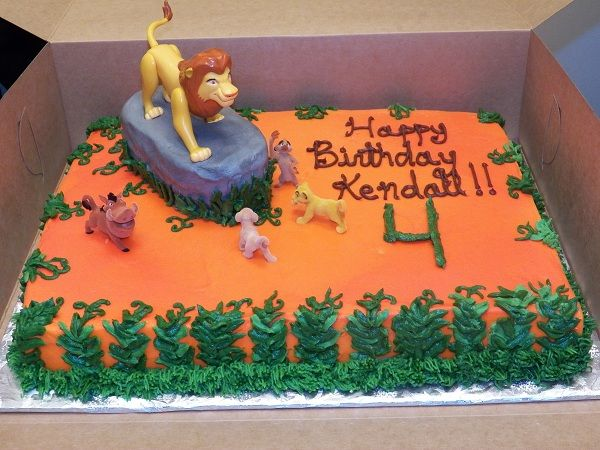 9 Simba Themed Sheet Cakes Photo Lion King Baby Shower Sheet Cake