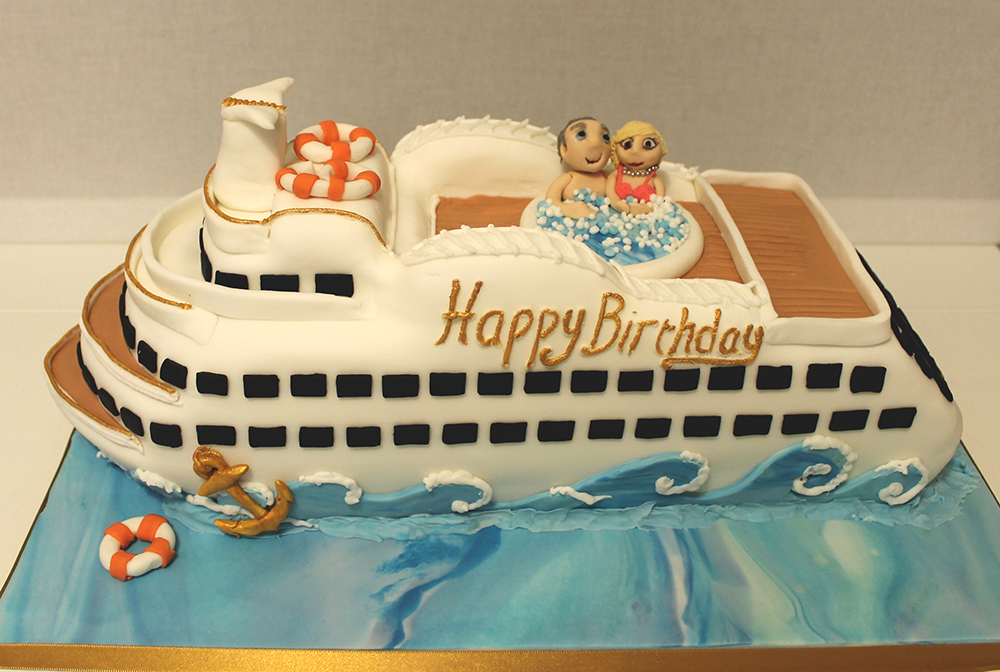 Happy Birthday Cake Cruise Ship