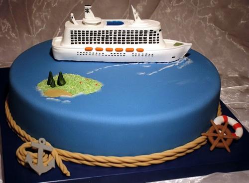10 Cruise Ship Happy Birthday Cakes Photo Happy Birthday Cake