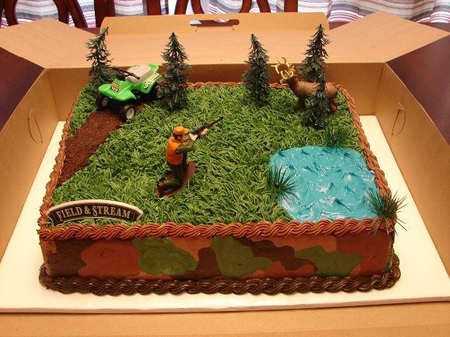 6 Hunting Cakes Ideas Photo Hunting Camo Birthday Cake Hunting