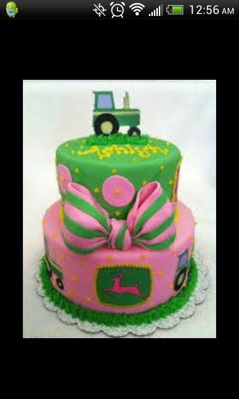 11 Girl John Deere Symbol Cakes Photo Happy Birthday John Deere