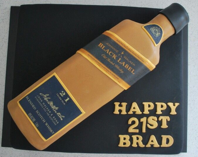 10 Black Label Bottle In The Box Cakes Photo Johnnie Walker Black