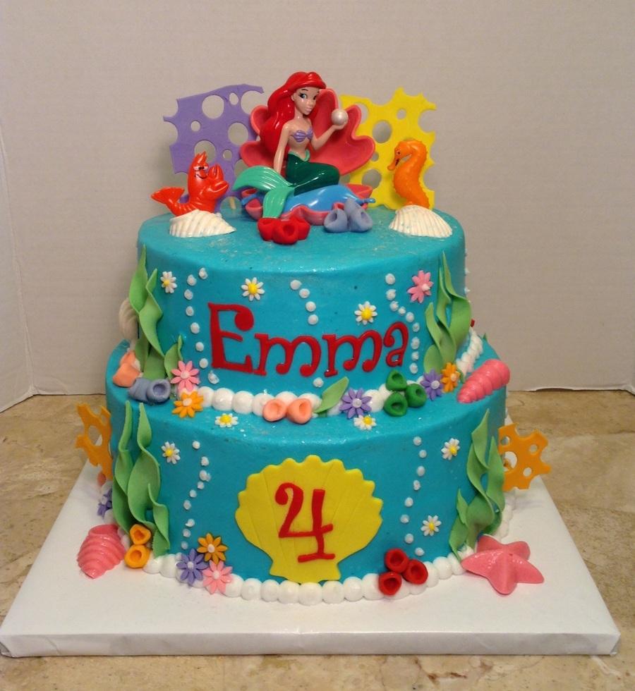 Fine 5 Little Mermaid Birthday Sheet Cakes Photo Little Mermaid Birthday Cards Printable Giouspongecafe Filternl