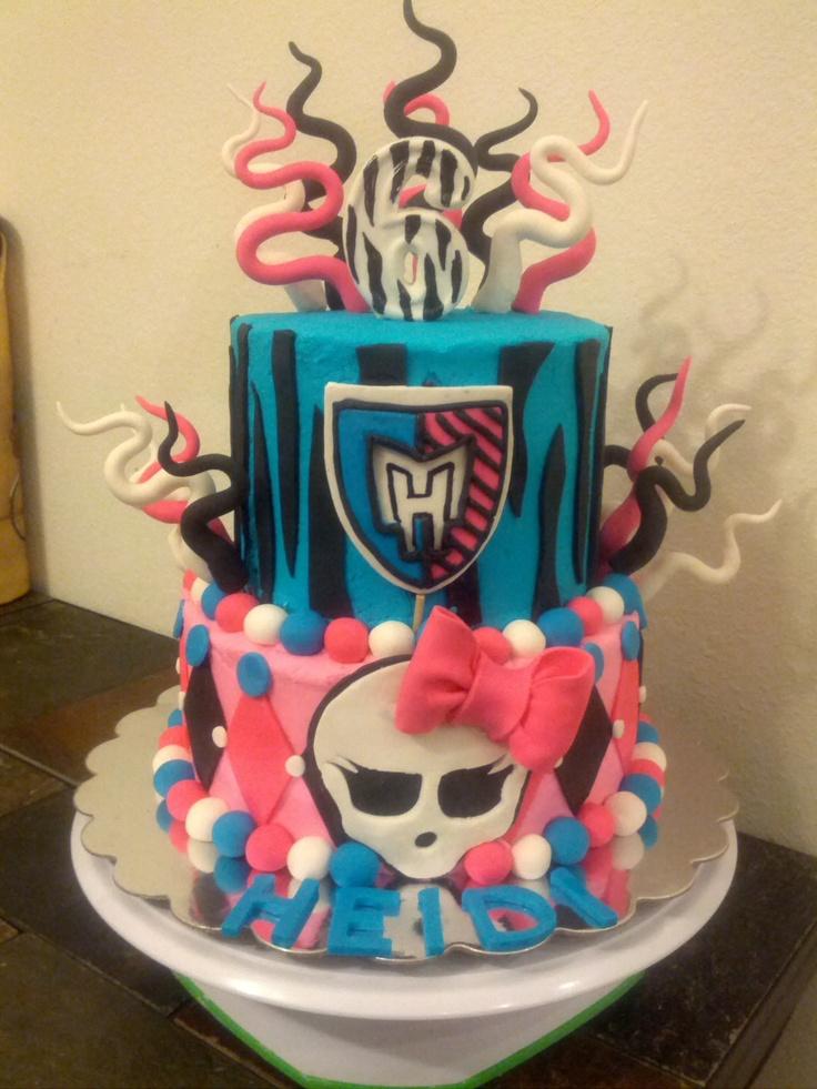 8 Easy Monster High Birthday Cakes Photo Monster High Birthday