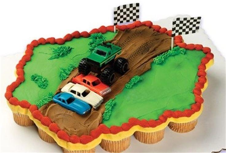 11 Easy Monster Truck Cupcakes Photo Monster Truck Cupcake Cake