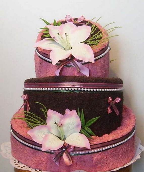 Mother's Day Gift Towel Cake Ideas