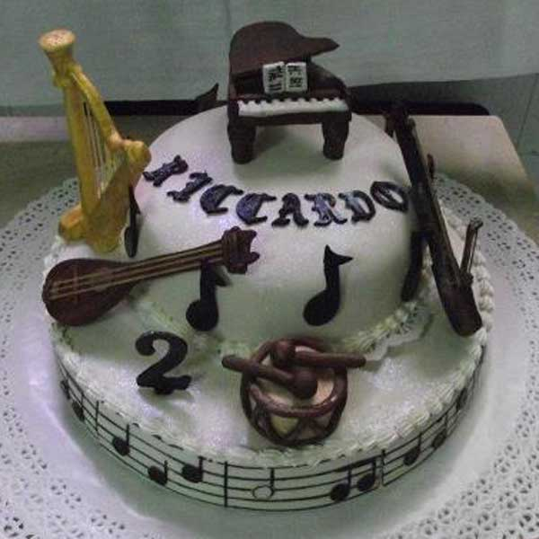 Musical Instrument Birthday Cake