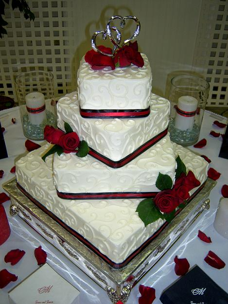 red and white square wedding cakes 11 square anniversary cakes black and photo ruby 19094
